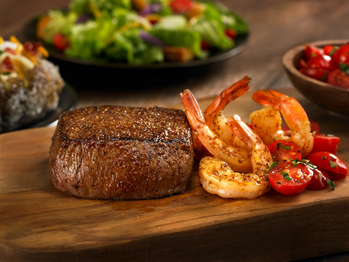 sirloin and grilled shrimp from outback steakhouse