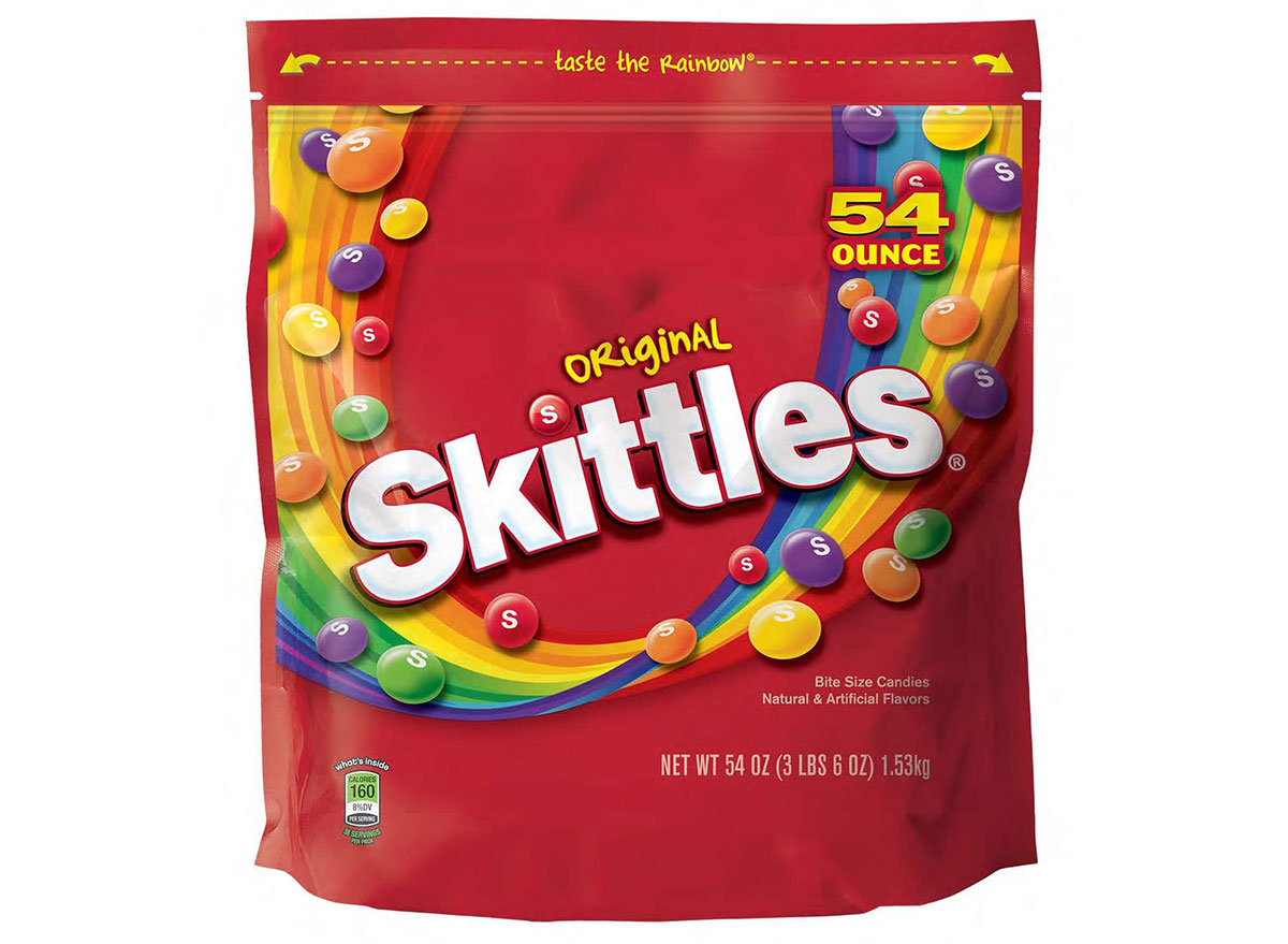 bag of skittles candy