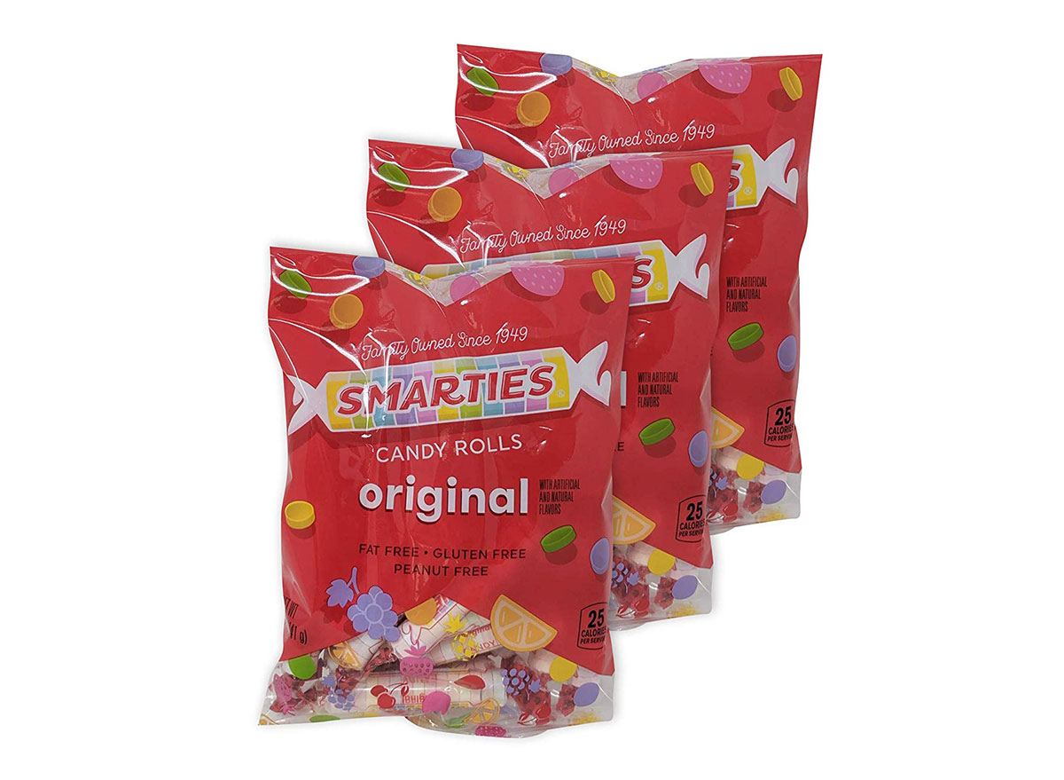 bags of smarties candy