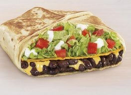 taco bell black bean crunchwrap