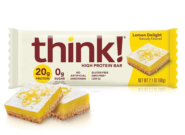 think high protein bar lemon delight