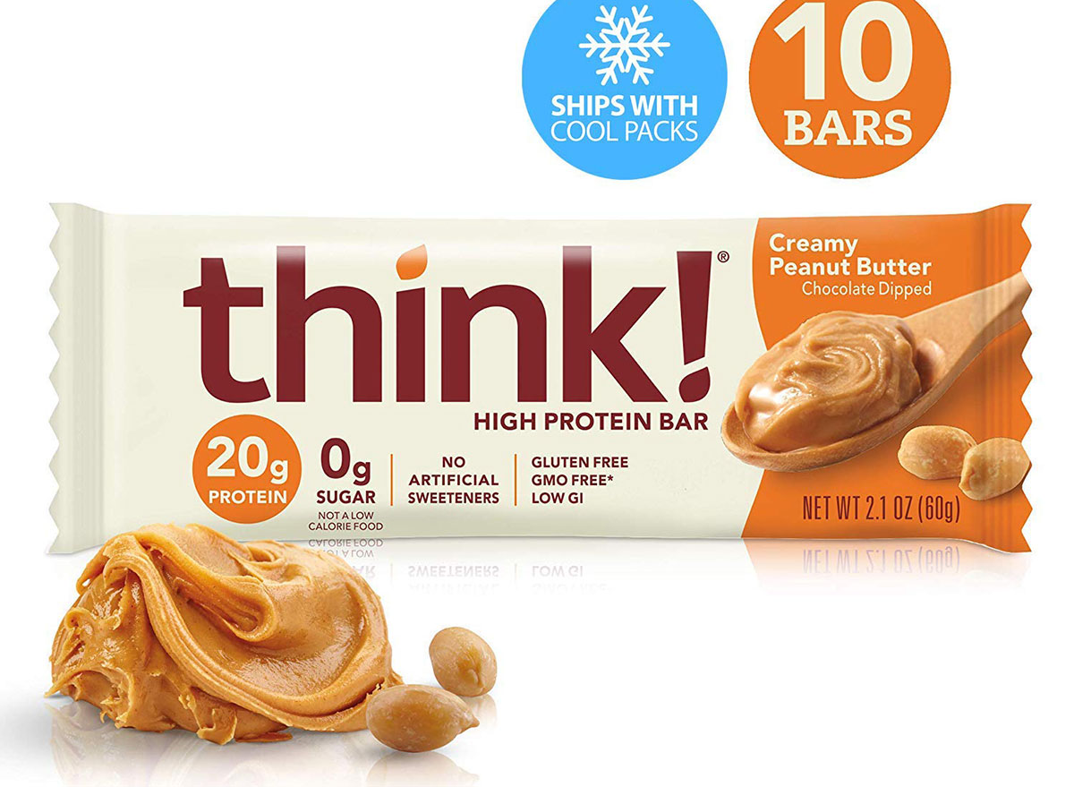 think protein bar peanut butter