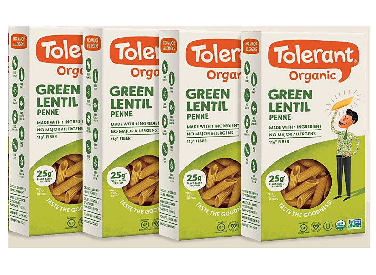 tolerant organic lentil pasta