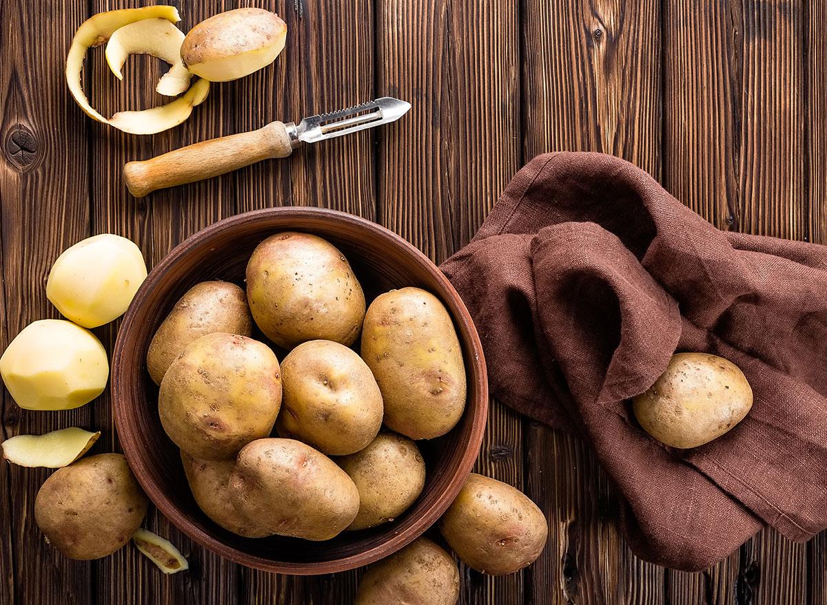 white potatoes in bowl