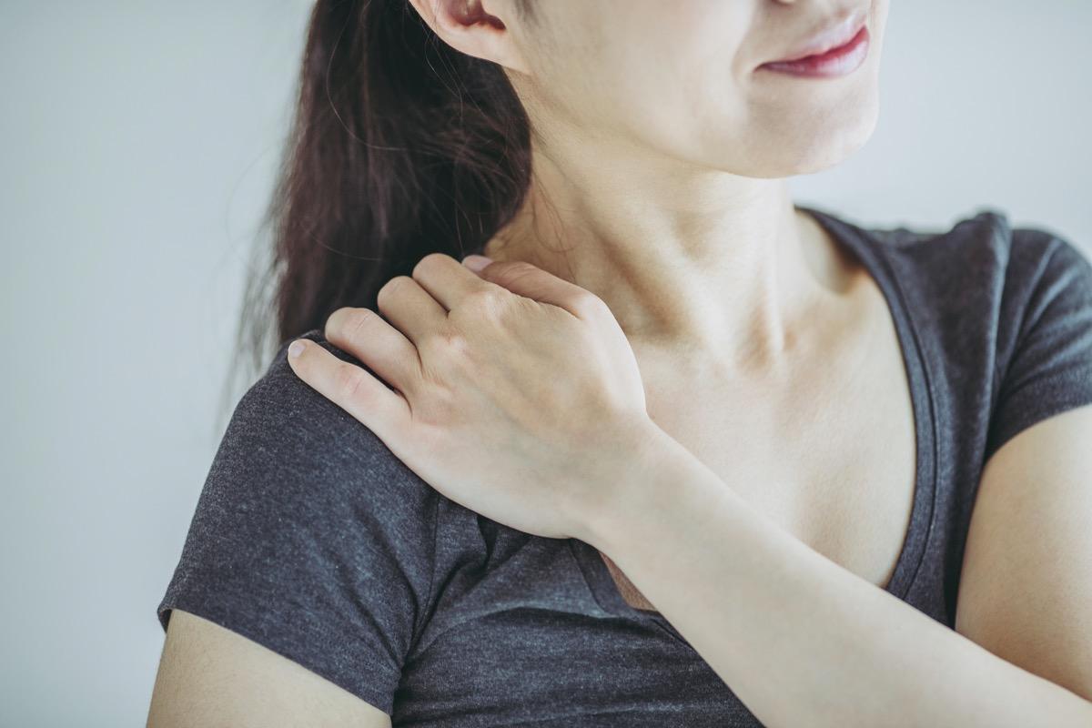 Asian women and stiff shoulders