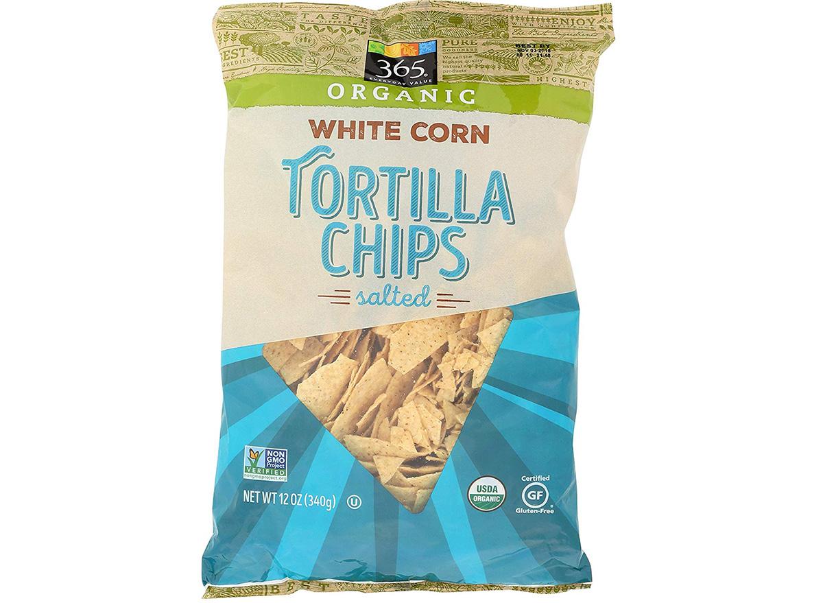 365 organic tortilla chips in packaging