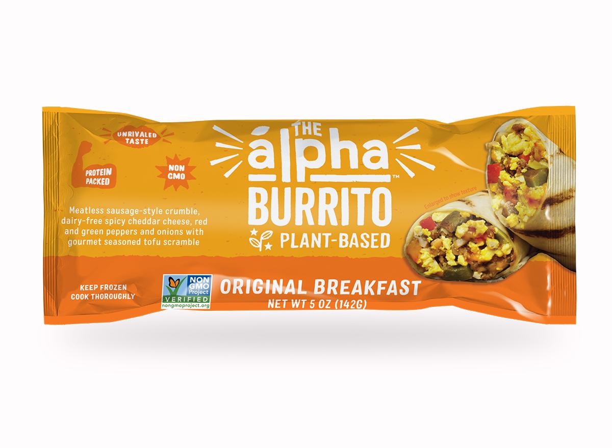 alpha foods original breakfast burrito