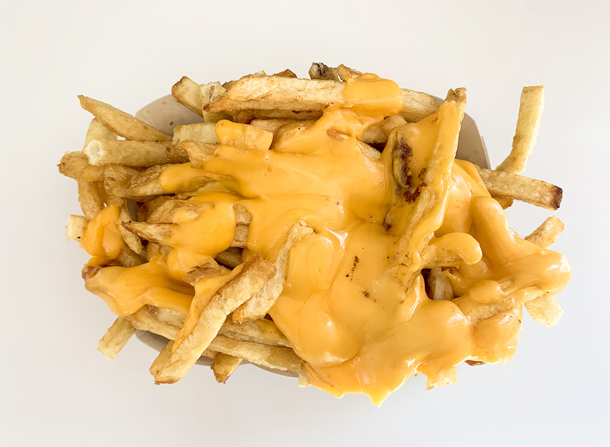 Cheesy fries well done from In-n-Out with lots of melty cheese on top