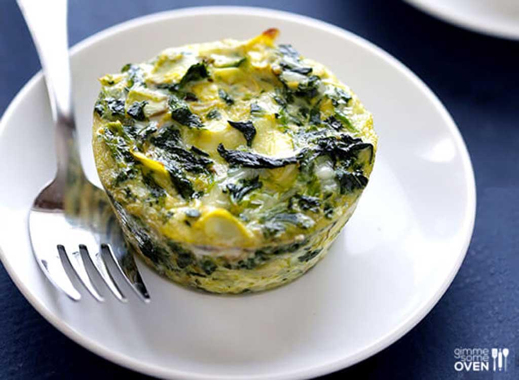 Spinach artichoke quiche cups