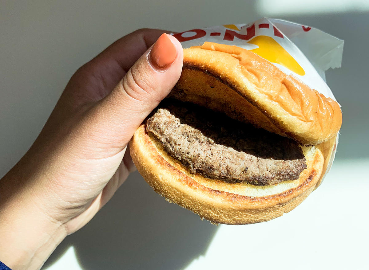 Burger ordered with extra salt at In-n-Out