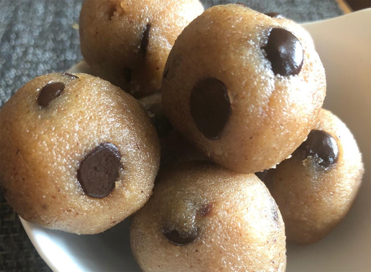 Keto no-bake cookie dough balls