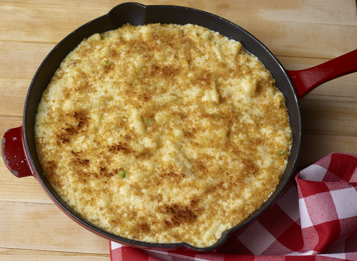 mac and cheese carbonara recipe from buddy v's ristorante in las vegas
