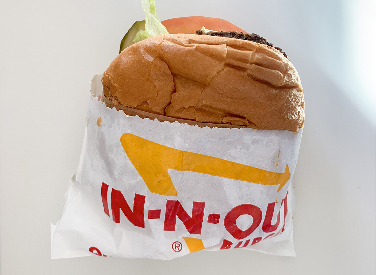 Well done burger at In-n-Out