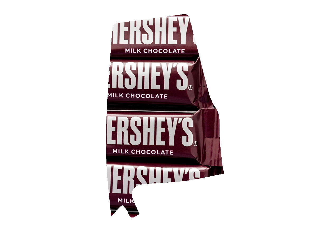 Alabama's favorite candy is the Hershey's Bar