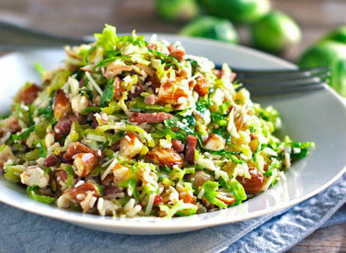 bacon brussels sprout salad
