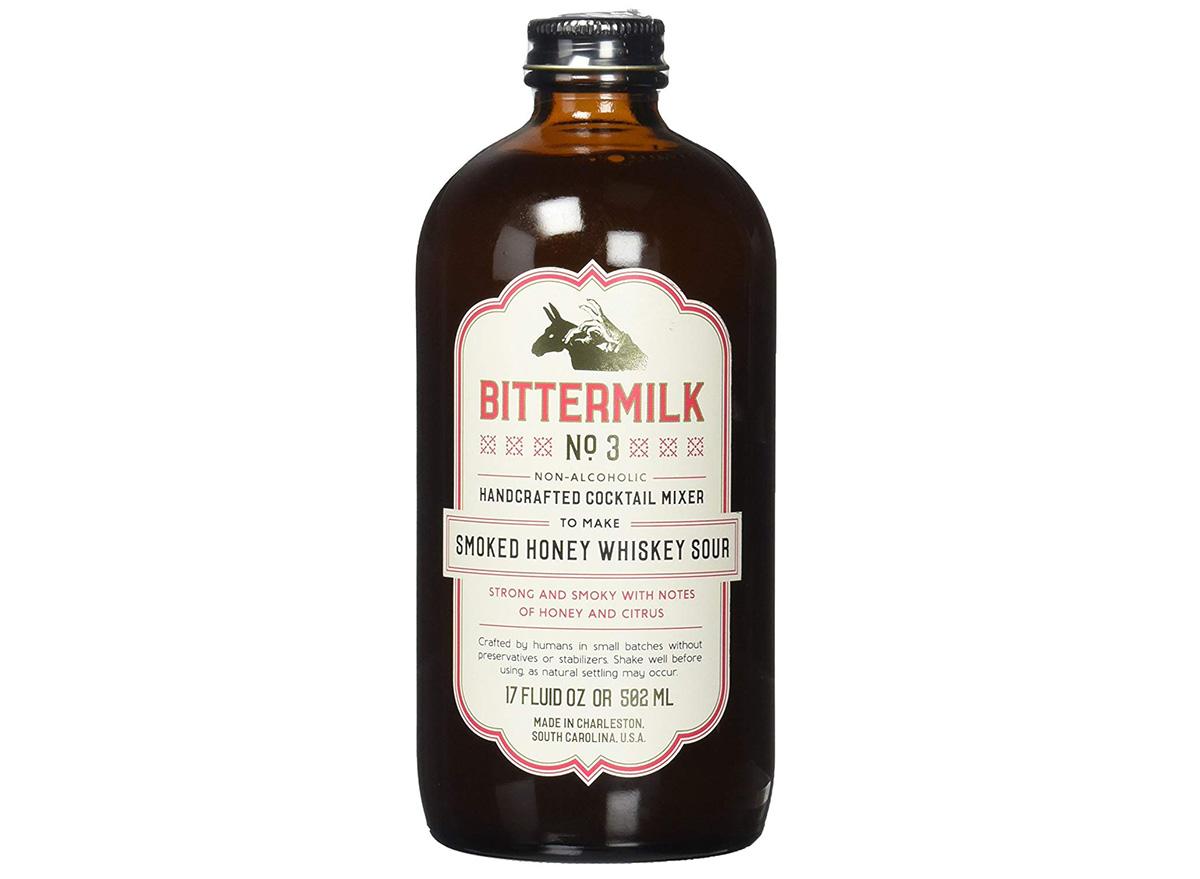 Bittermilk No 3 Smoked Honey Whiskey Sour in bottle