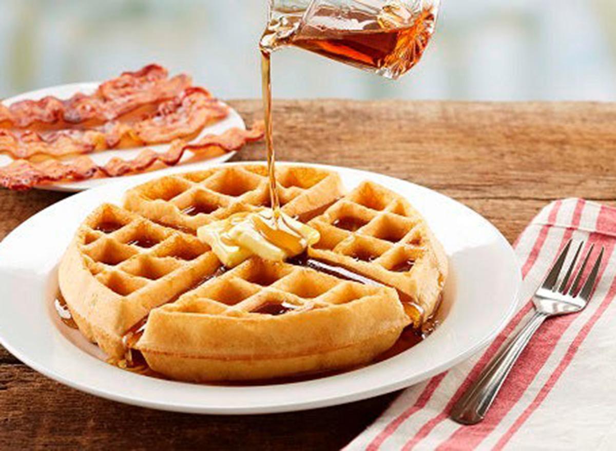 bob evans waffle breakfast