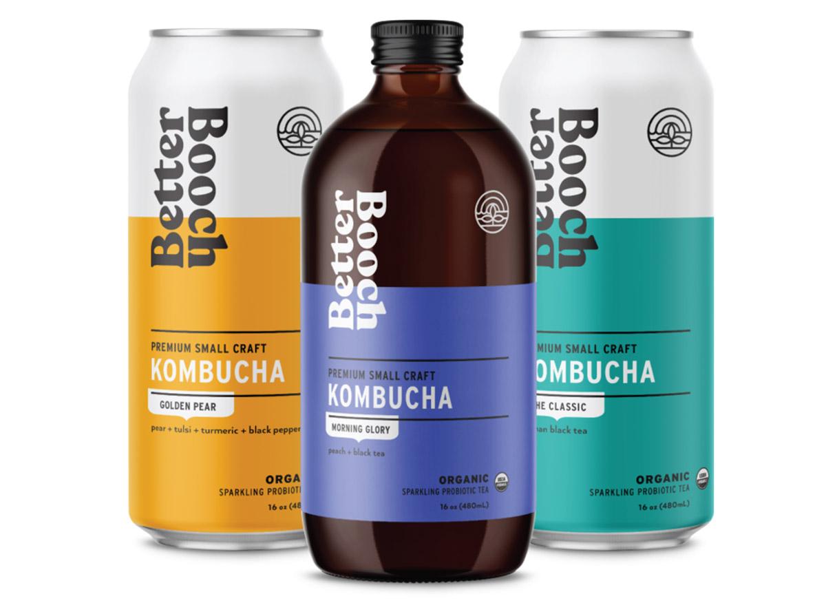 booch better kombucha bottles and cans