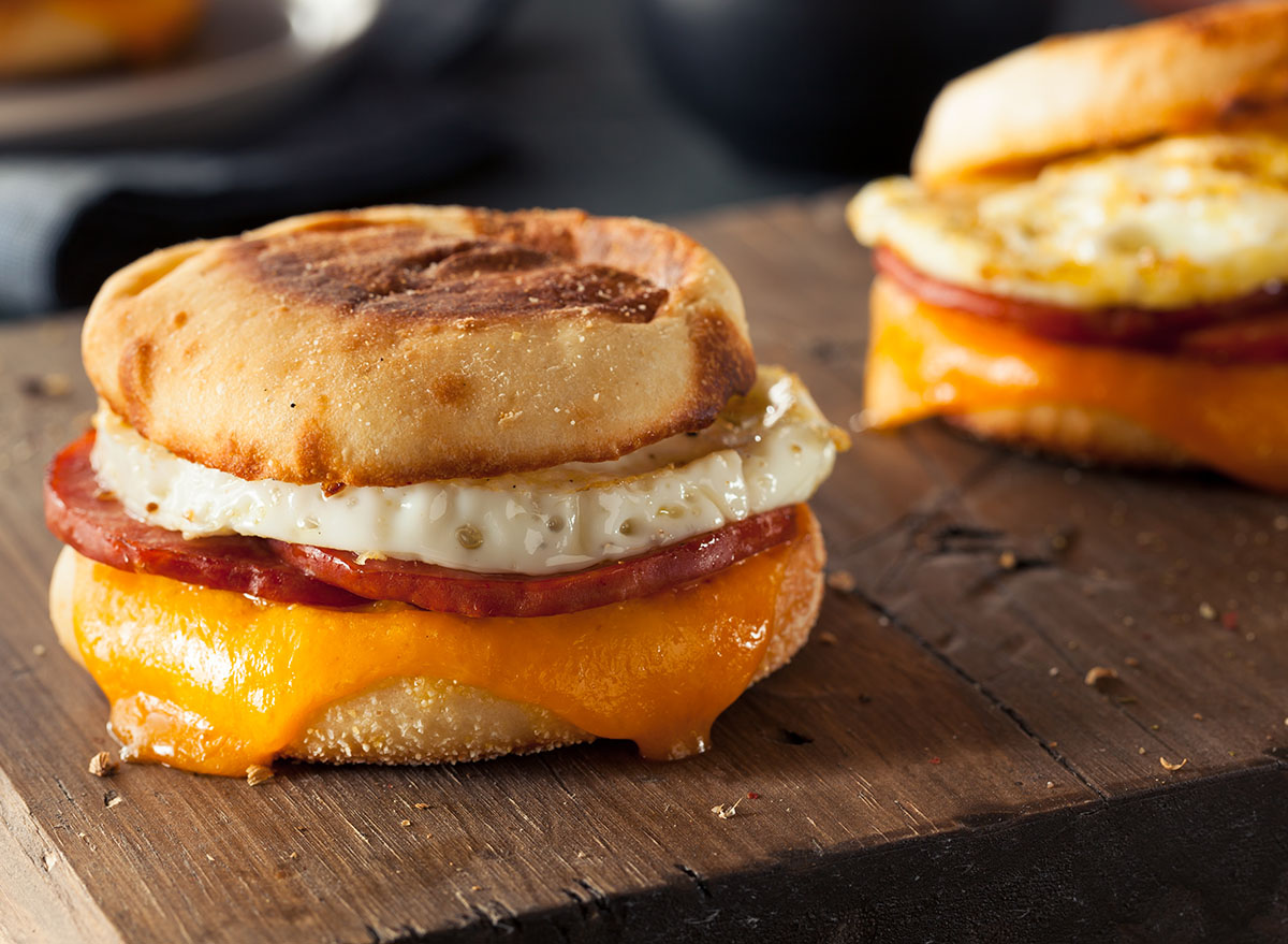 breakfast egg sandwich cheese