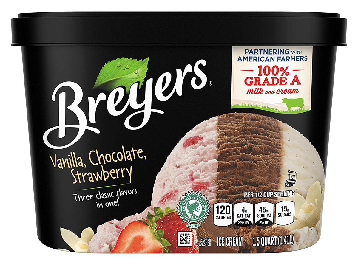 breyers vanilla chocolate and strawberry