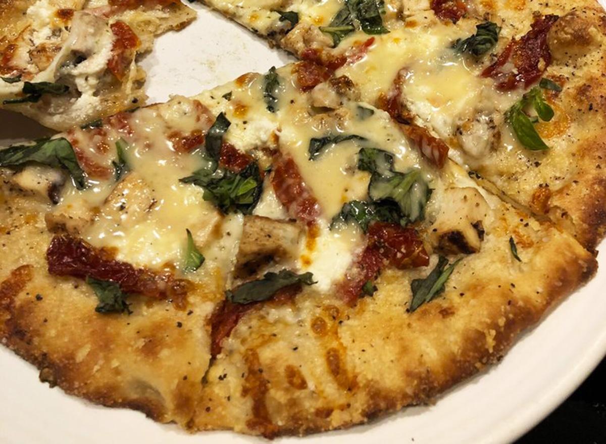 carrabbas chicken bryan pizza pie