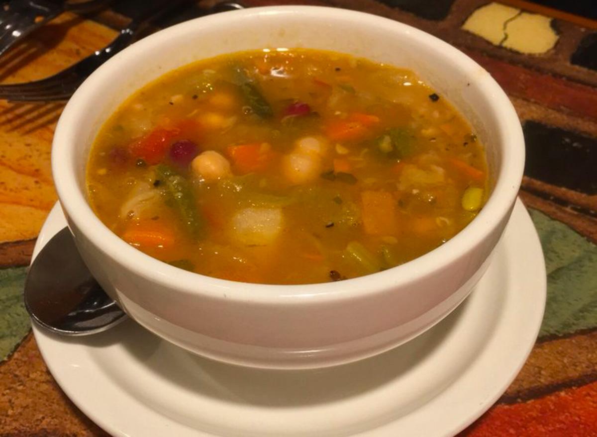 carrabbas minestrone soup cup