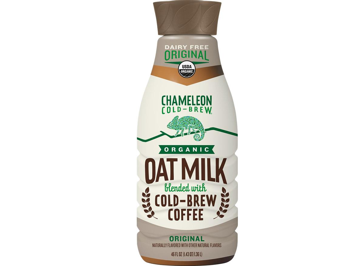 chameleon cold brew oat milk latte
