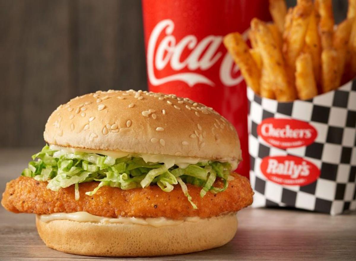 checkers spicy chicken sandwich