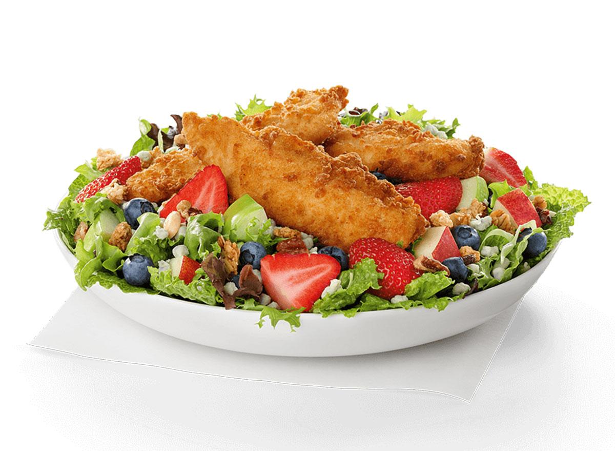 chick fil a grilled market salad w chick n strips