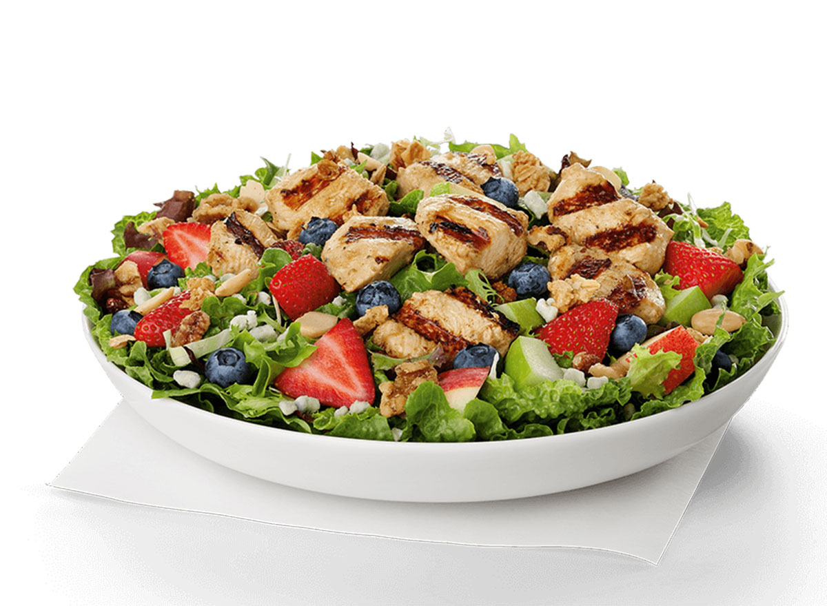 chick fil a market salad with grilled nuggets