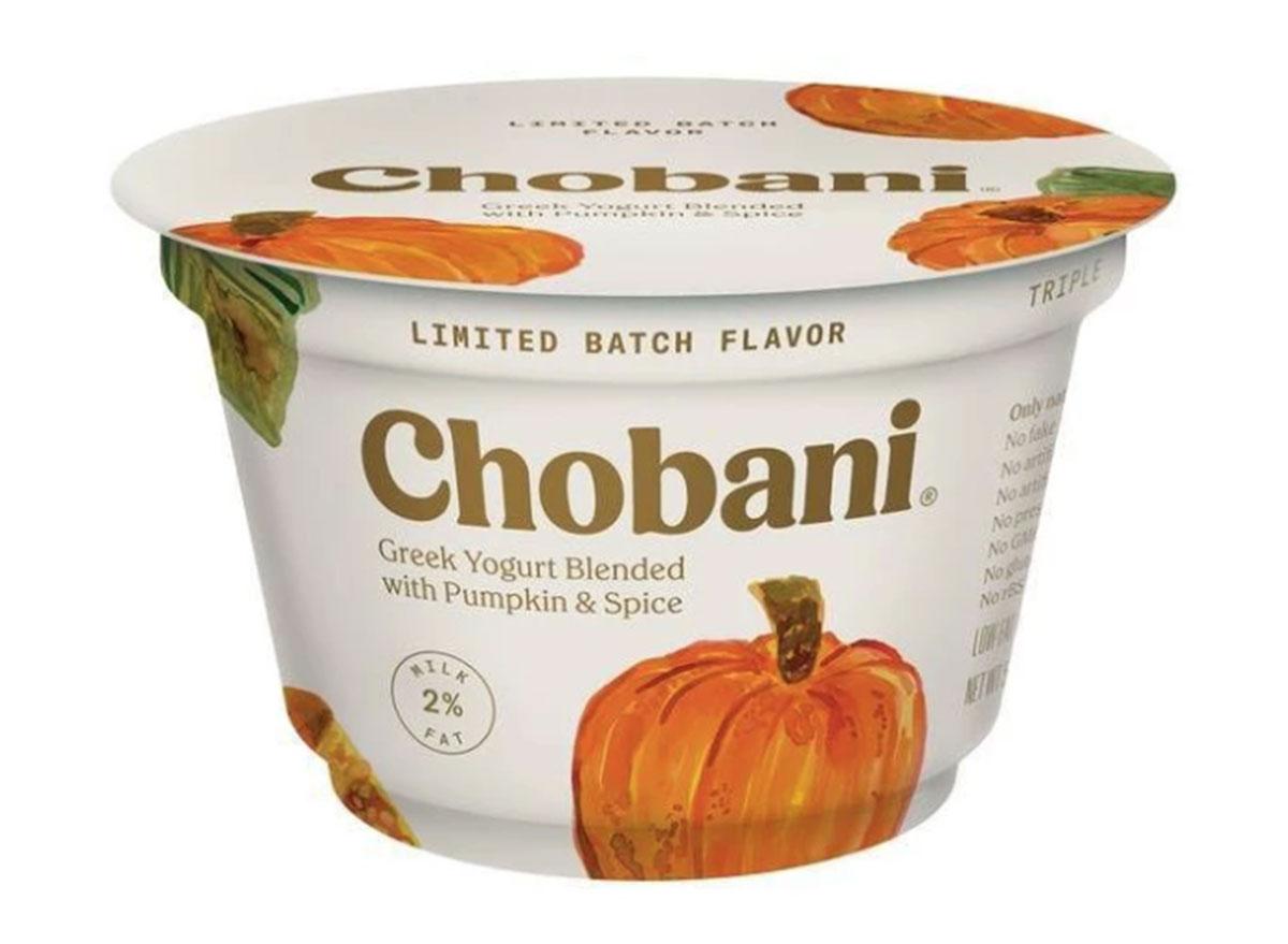 chobani greek pumpkin yogurt