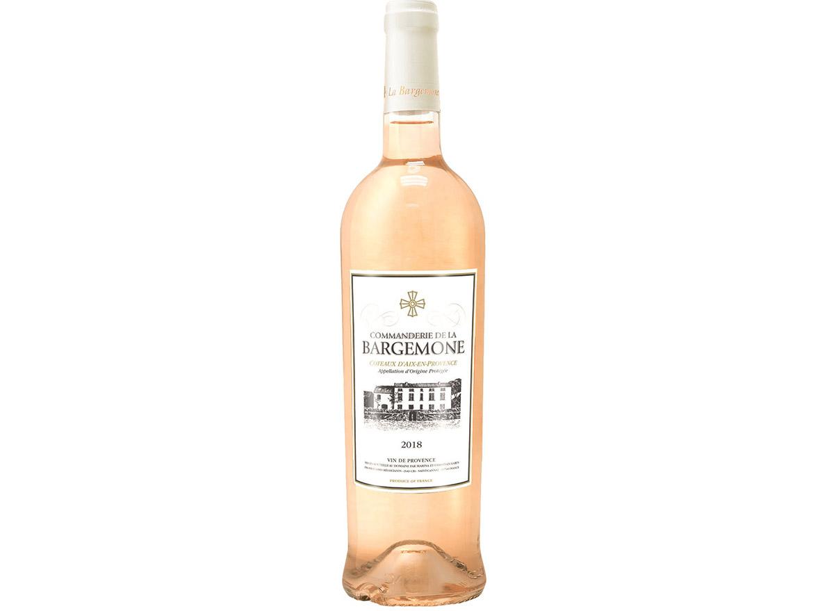 commanderie baremone rose in bottle