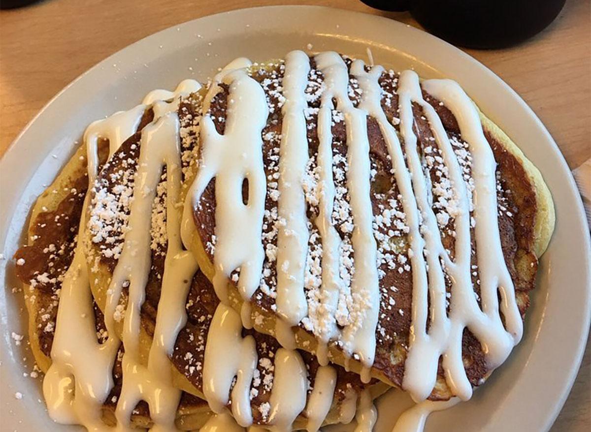 cinnamon pancakes from darcys cafe north dakota