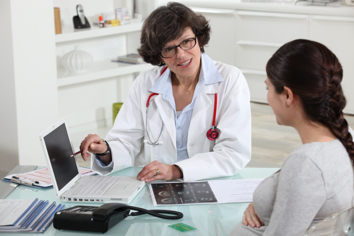 Doctor discussing a patient's results