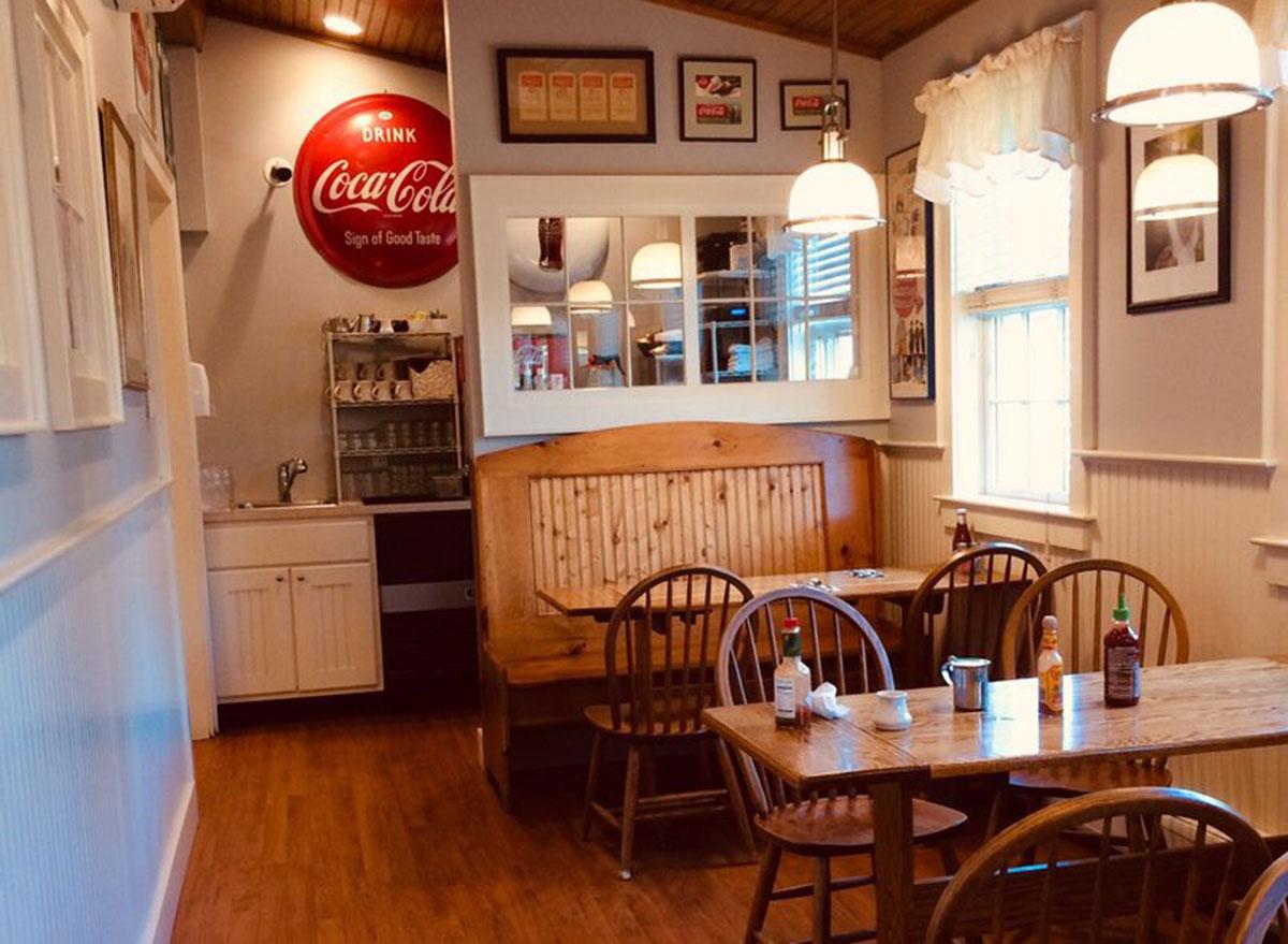 Inside Dot's Restaurant in Wilmington, Vermont
