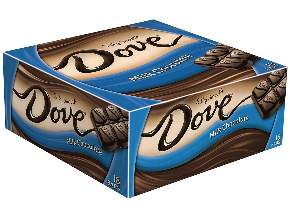 dove milk chocolate bars