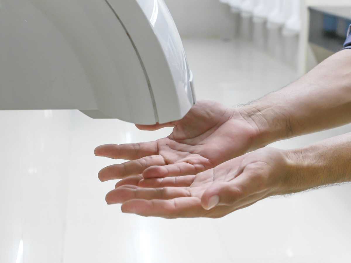 Hand Air Dryer In Public Toilet or Washrooms