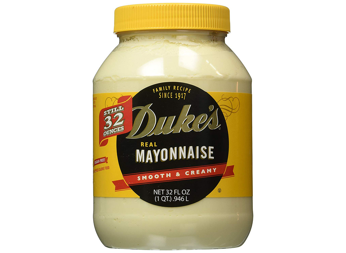 dukes real mayonnaise in packaging