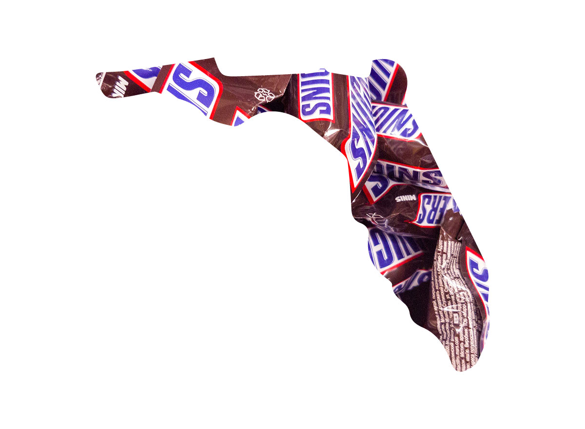 Florida's favorite candy bar is Snickers