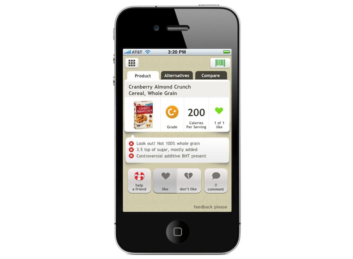 fooducate app on iphone