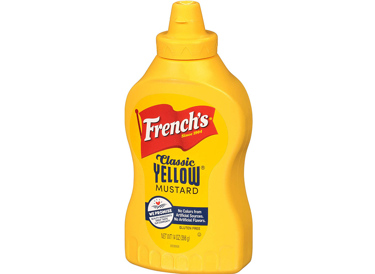 frenchs yellow mustard in container