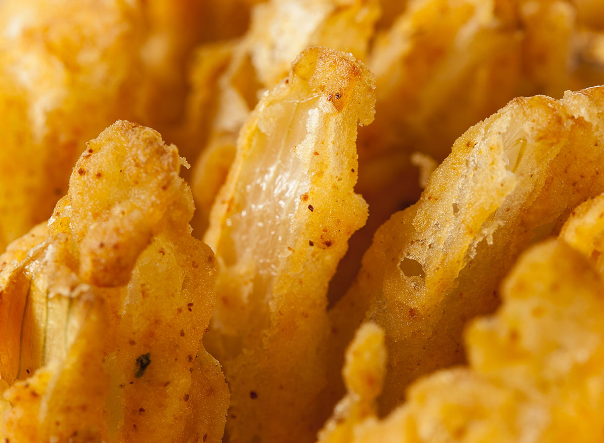 fried bloomin onion close-up