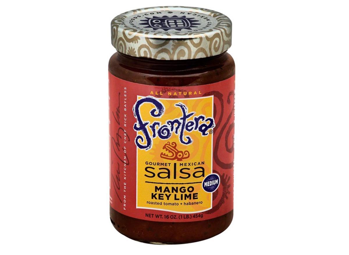 frontera mango key lime salsa in jar