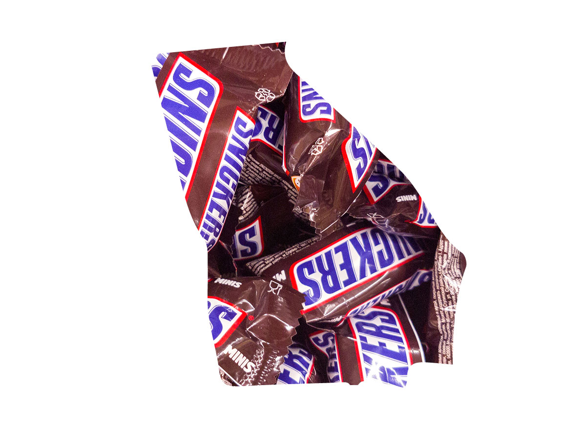 Georgia's favorite candy bar is Snickers