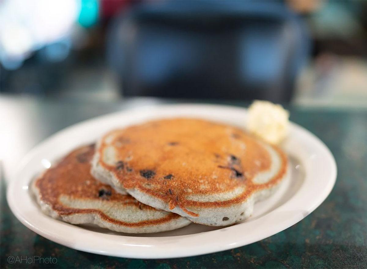blueberry pancakes from granny b's diner alaska