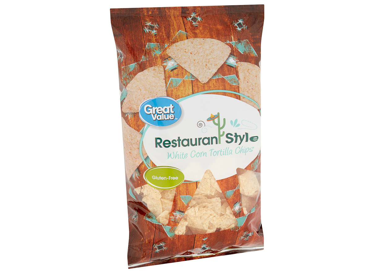 great value tortilla chips in packaging