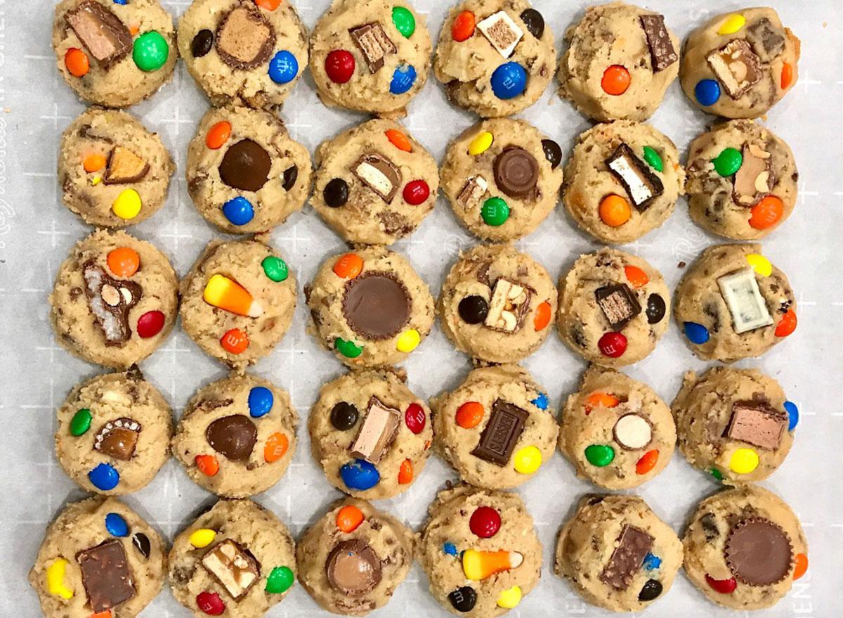 halloween candy cookie dough
