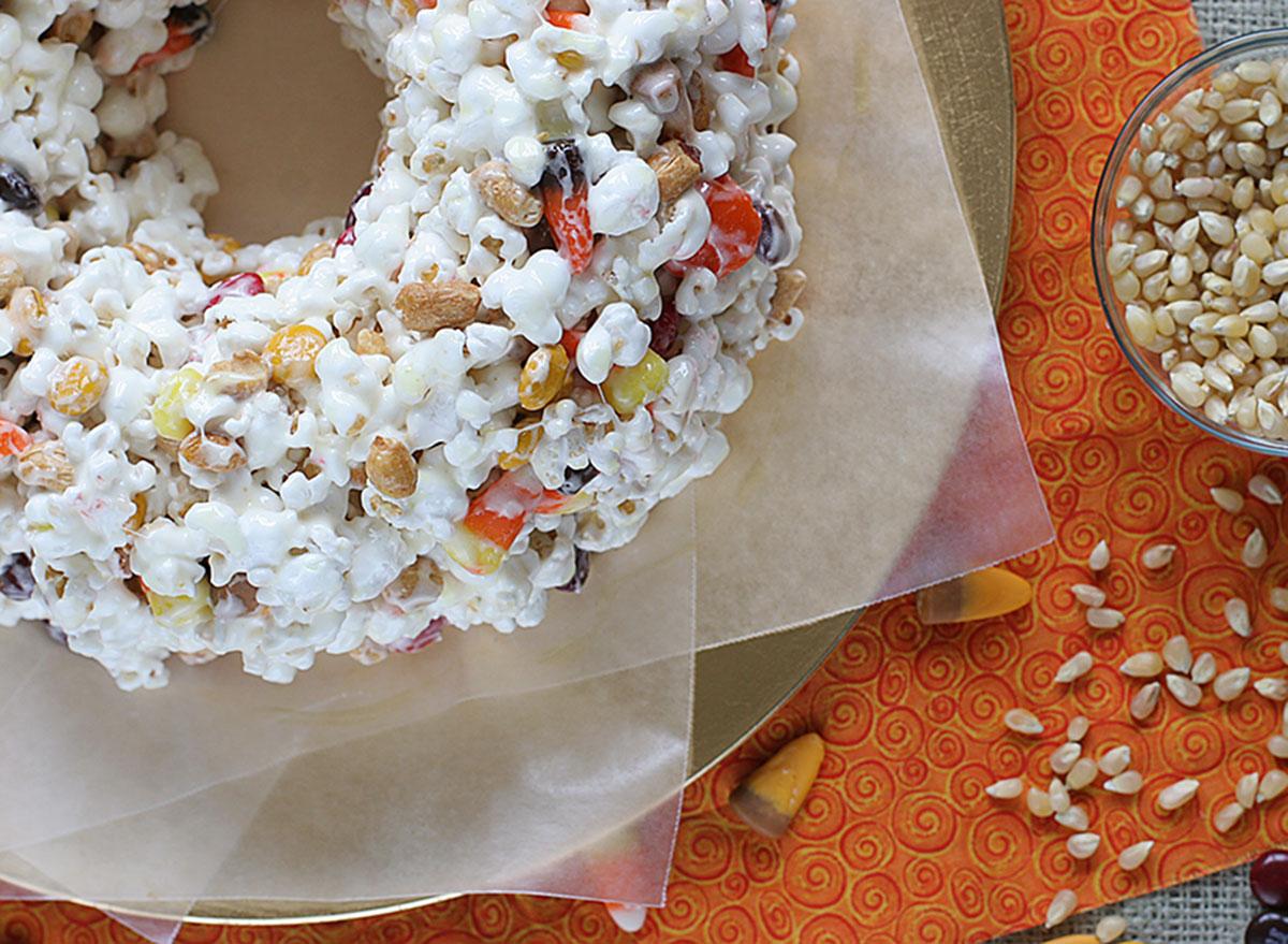 halloween popcorn cake