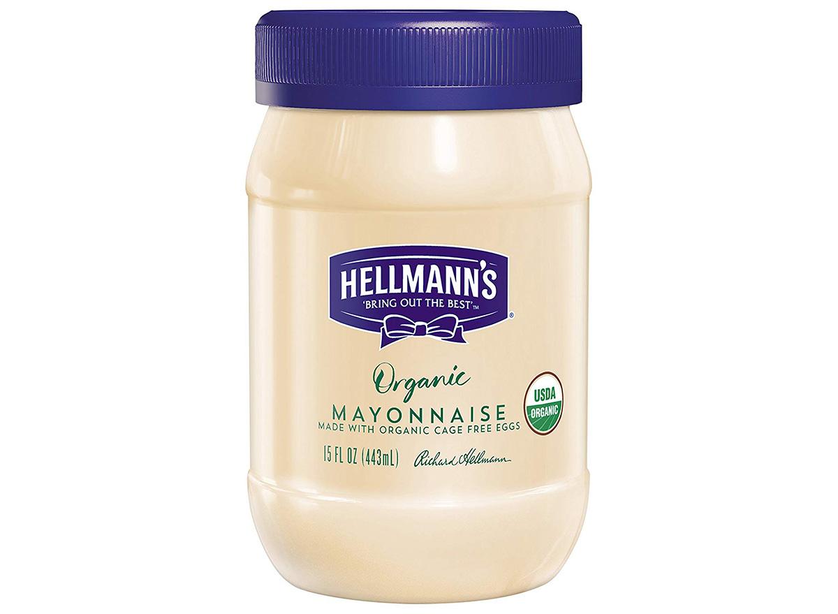 hellmanns organic mayonnaise in jar