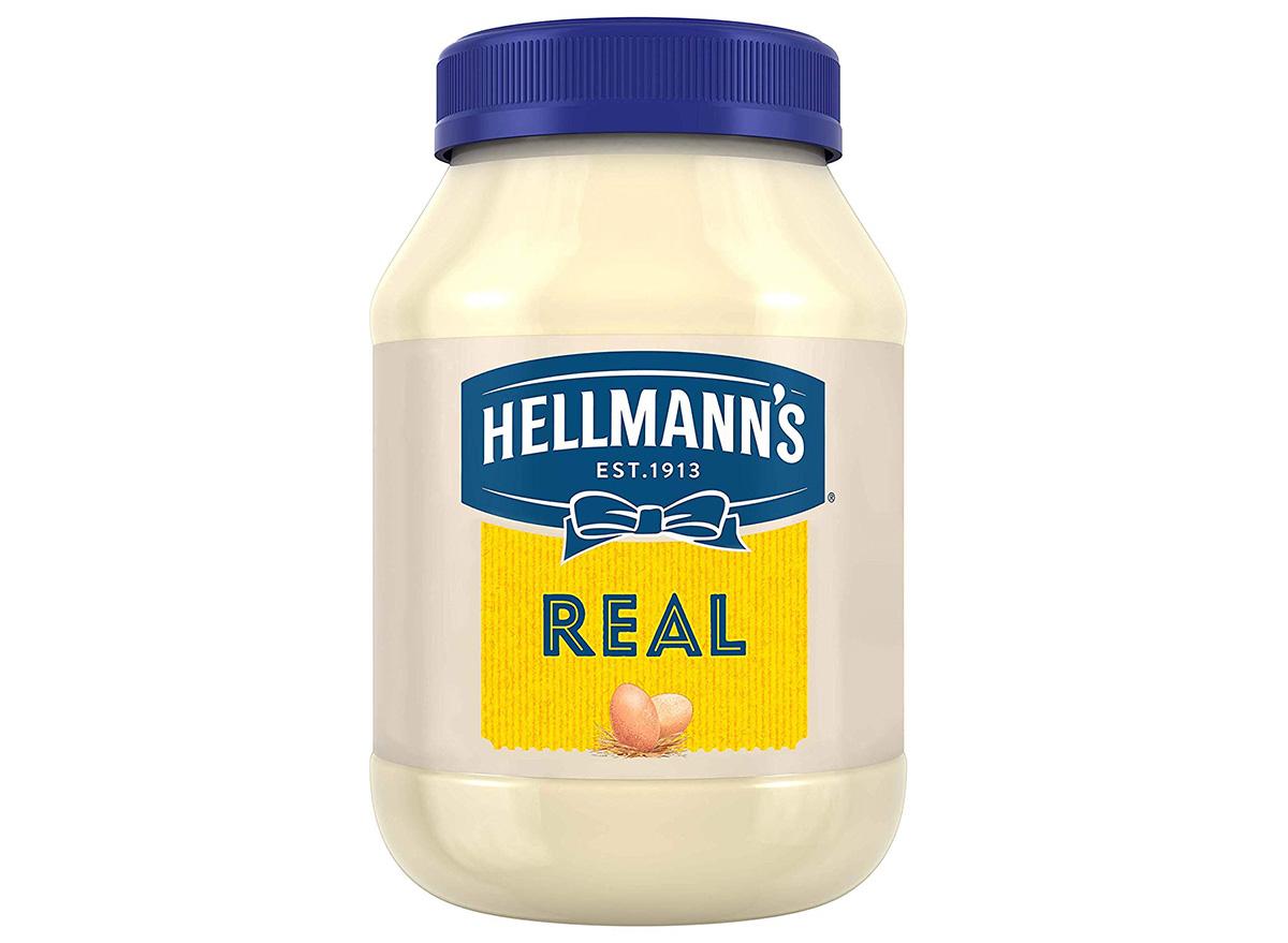 hellmanns real mayonnaise in jar